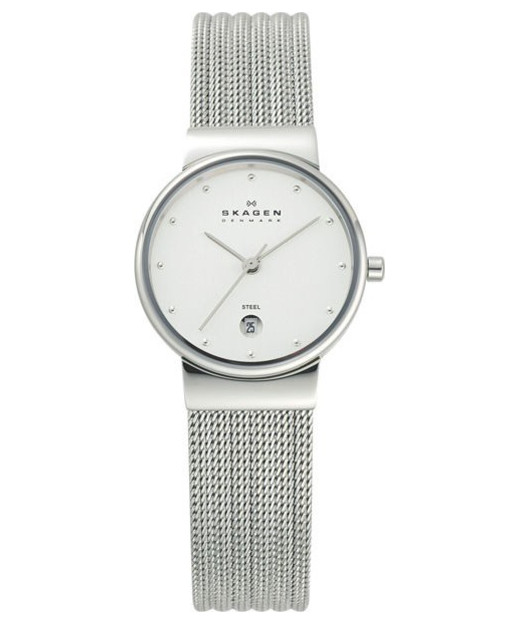 Skagen Ancher Striped Steel Mesh Watch 355SSS1