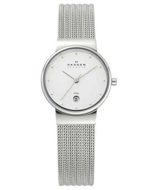 Skagen Ancher Striped Steel Mesh Watch 355SSS1