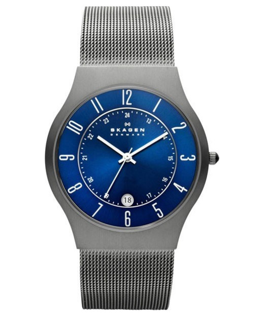 Skagen Grenen Steel Mesh and Titanium Case Watch 233XLTTN